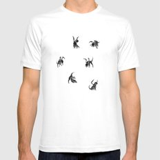 SIX POOL SMALL White Mens Fitted Tee