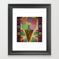 Fancy Ice Cream Framed Art Print
