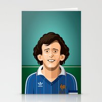Platini 1982 Stationery Cards