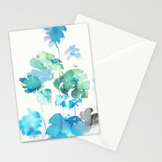 Tropical leaves, (collab Dylan Silva!) Stationery Cards