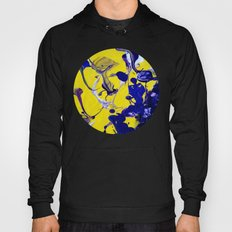 Ultra Violet Blue Yellow Abstract Paint Hoody