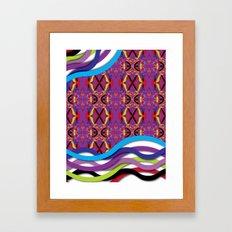 Pattern AM02 Colorful Framed Art Print