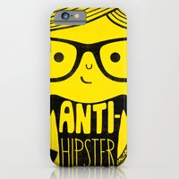 iPhone & iPod Case featuring Anti-hipster - yellow by Farnell