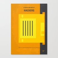 No684 My Hackers minimal movie poster Canvas Print