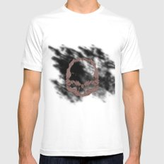 skull SMALL Mens Fitted Tee White