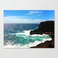 Canvas Print featuring Waves... by EyeDon'tKnow