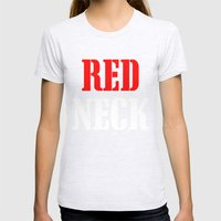 RED NECK Womens Fitted Tee Ash Grey SMALL