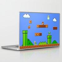 mario Laptop & iPad Skins featuring Mario by idaspark