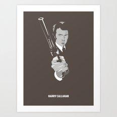 Harry Callahan - Clint Eastwood Art Print