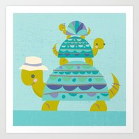 turtle tower Art Print