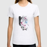 Wild At Heart Womens Fitted Tee Ash Grey SMALL