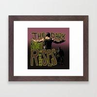 Showdown // The Dark Knight Rises Framed Art Print