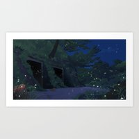 The Grave Of The Fireflies Art Print