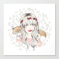 Fox Dreams Canvas Print