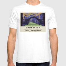 Undercity Classic Rail Poster Mens Fitted Tee White SMALL