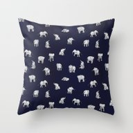 Throw Pillow featuring Indian Baby Elephants In… by Estelle F