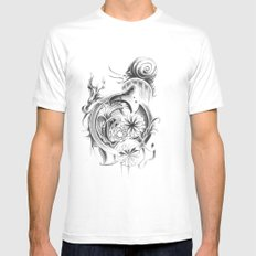 snail Mens Fitted Tee SMALL White