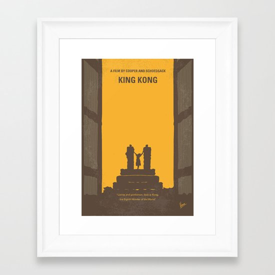No133 My KING KONG minimal movie poster Framed Art Print