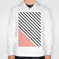 Diagonal Block - Pink Hoody