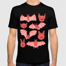 Bats SMALL Mens Fitted Tee Black