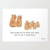 Hamster Recession  Art Print