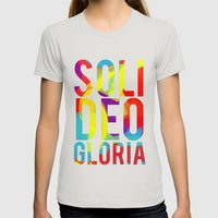 BOLD FOR BOLD- Bright Womens Fitted Tee Silver SMALL