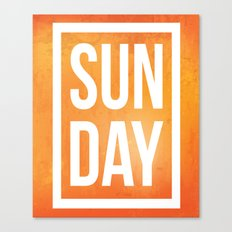 Sunday Quote Canvas Print