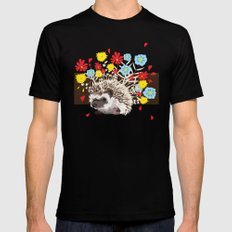 hedgehog SMALL Mens Fitted Tee Black