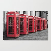 The Phone Boxes  Canvas Print