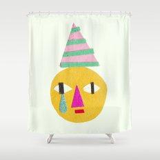 sad face Shower Curtain