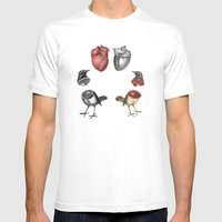 Helvygona Mens Fitted Tee White SMALL