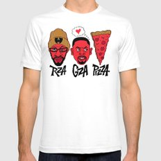 RZA, GZA, PIZZA Mens Fitted Tee White SMALL