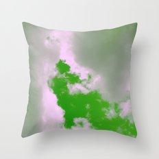 Green Sky! Throw Pillow