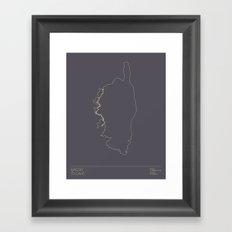 Le Tour De France 2013 Stage 3 Minimal Poster Framed Art Print