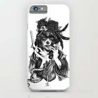 woman iPhone & iPod Cases featuring Chicana by Rudy Faber