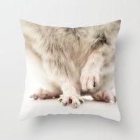Chinchilla Hands = The C… Throw Pillow
