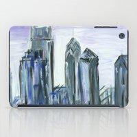 Gray Philadelphia Skyline iPad Case