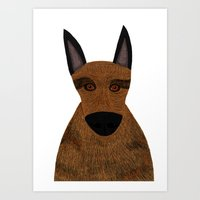 Dog - German Shepherd 2 Art Print
