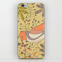 Wild Berry Garden Bird iPhone & iPod Skin