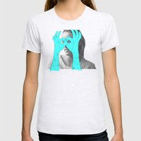 Peak-a-Boo Womens Fitted Tee Ash Grey SMALL