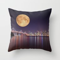 San Francisco Moon Throw Pillow
