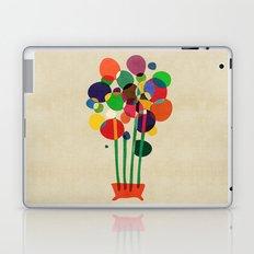Happy flowers in the vase Laptop & iPad Skin