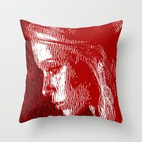 thoughtful woman Throw Pillow