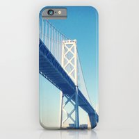 iPhone & iPod Case featuring south side, bay bridge by 4blankwalls