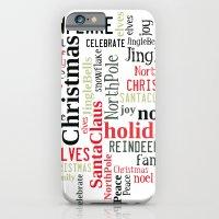Christmas Typography iPhone 6 Slim Case