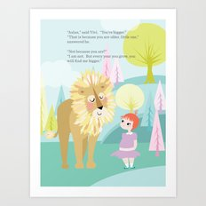 Aslan & Lucy Talking Art Print
