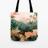 Creature Jungle Tote Bag