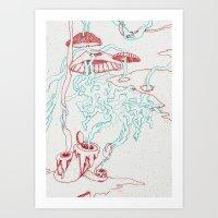 Lava II Art Print
