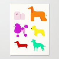The Rainbow Dogs II Canvas Print