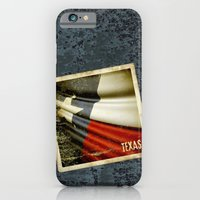iPhone Cases featuring Grunge sticker of Texas (USA) flag by Lulla